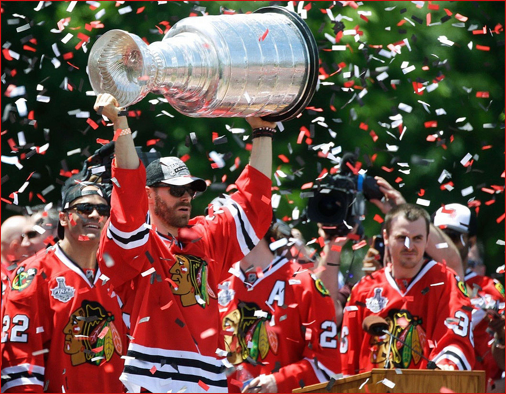 Chicago celebrates the 2015 Stanley Cup Champion Chicago Blackhawks