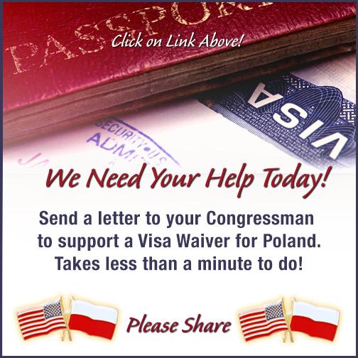 Wielka mobilizacja Polonii. Piszmy do kongresmenów, znieśmy wizy!