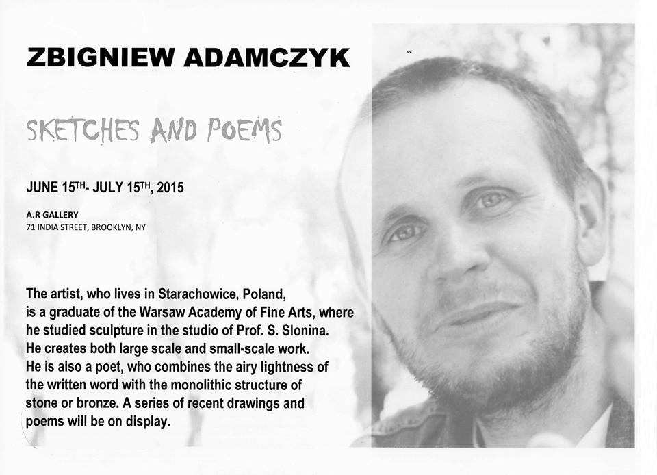 Rysunki i wiersze Zbigniewa Adamczyka