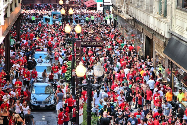 Parada Chicago Blackhawks  i wielkie świętowanie na Soldier Field