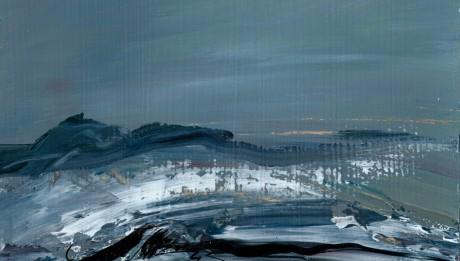 "wystawa malarstwaArtura Skowrona pt. ""From Tide to Tide, from Moon to Sun""."