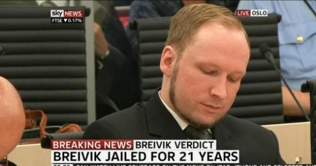 Anders Breivik pozywa państwo norweskie