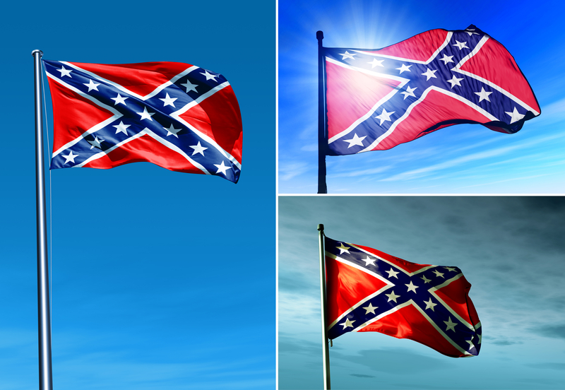Karolina Południowa – usunięta flaga przed budynkiem parlamentu.