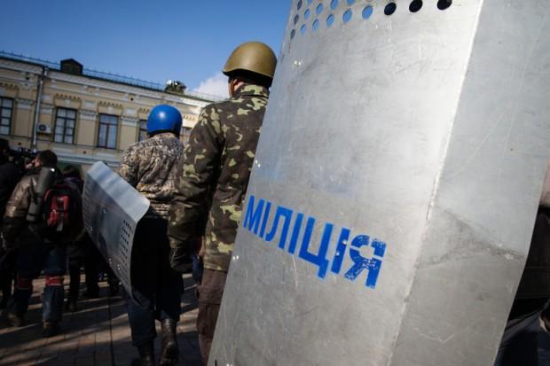 Pierwsze patrole policji na ulicach Kijowa