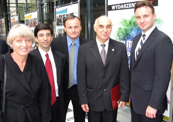 Moje spotkanie z Dr. Andrzejem Dudą, bylem Podsekretarzem Stanu, teraz Prezydentem RP