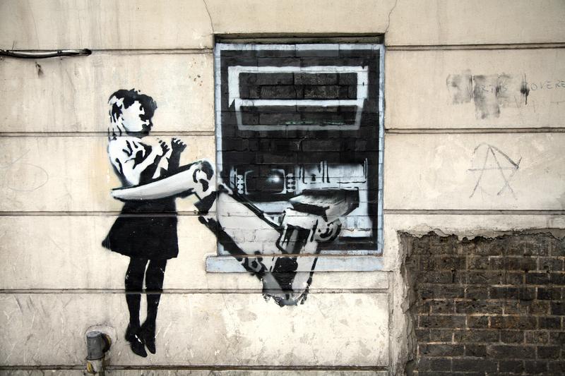 Mural Banksy'ego z ruin w Detroit na aukcji w Kalifornii