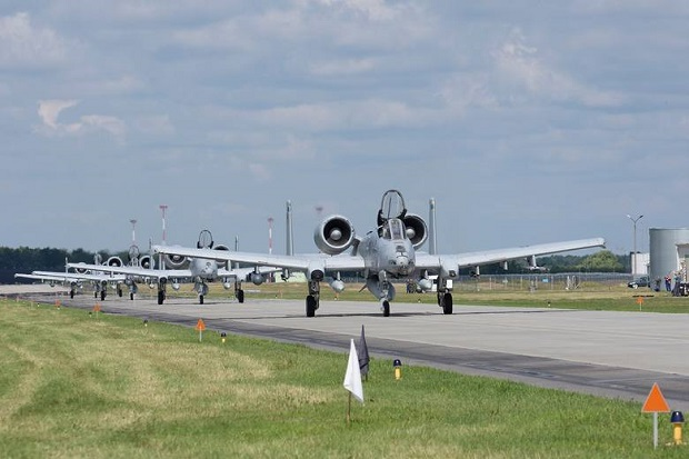 Amerykańskie Thunderbolt II odleciały z bazy w Łasku