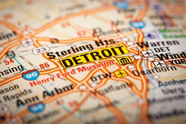 Rośnie populacja Michigan, ale kurczy się w Detroit