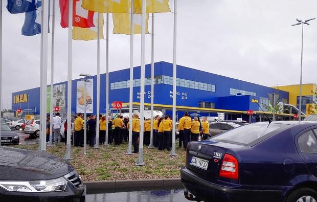 Ewakuacja IKEI w Bydgoszczy.