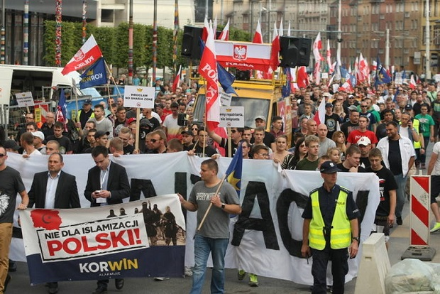 Marsz przeciwko islamizacji Polski i Europy oraz przyjmowaniu imigrantów