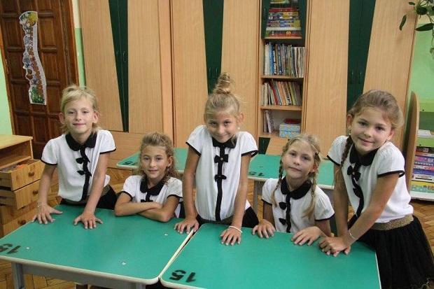 Kieleckie pięcioraczki poszły do pierwszej klasy