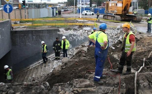 Awaria na budowie Forum Gdańsk. Woda zalała tunel przy Podwalu Grodzkim w Gdańsku
