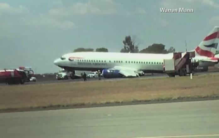 Johannesburg RPA: Podwozie samolotu urwało się przy lądowaniu