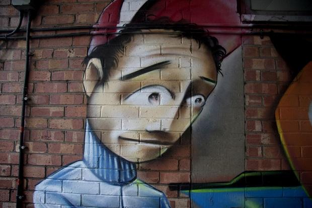 Mural Banksy'ego z Detroit sprzedany na aukcji w Kalifornii