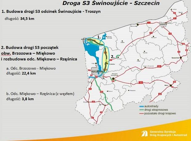 Ekspresówki i obwodnice w Szczecińskiem: powstanie 470 km nowych dróg