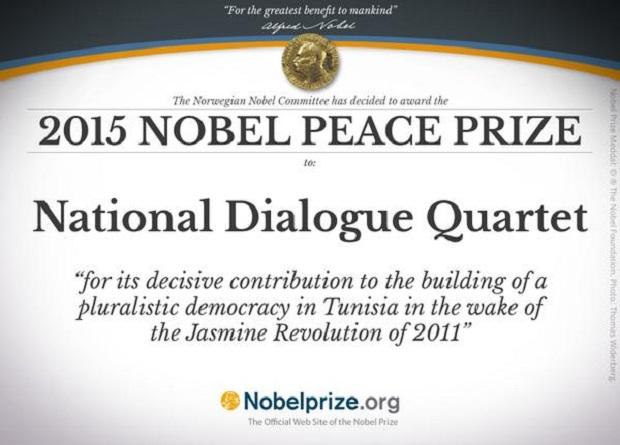 Pokojowy Nobel dla Tunezyjskiego Kwartetu na Rzecz Dialogu