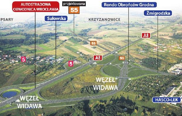 Powstaje największe skrzyżowanie we Wrocławiu