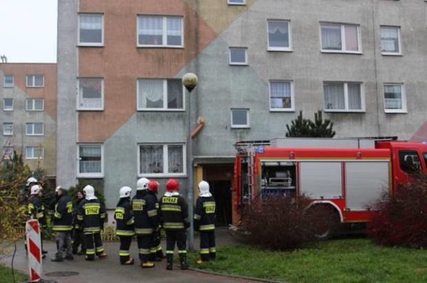 Zachodniopomorskie – Pożar w bloku przy ul. Okrzei w Sławnie