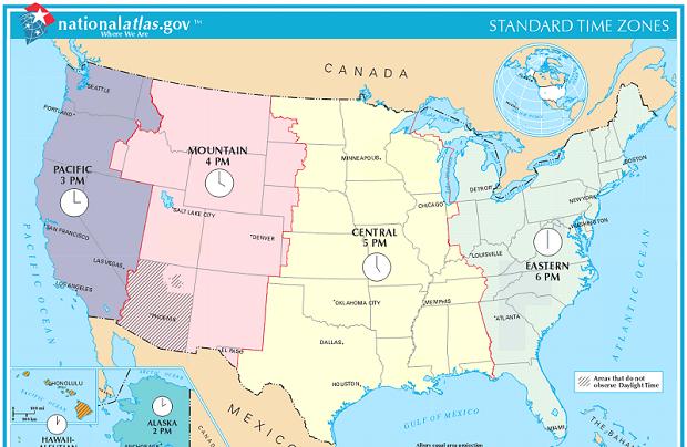 Massachusetts zmieni swoją strefę czasową?