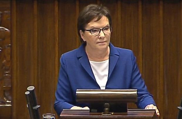 Ewa Kopacz oczekuje przeprosin od Jarosława Kaczyńskiego