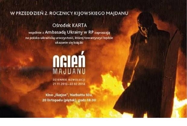 """Książka """"Ogień Majdanu"""" zaprezentowana na Ukrainie"""