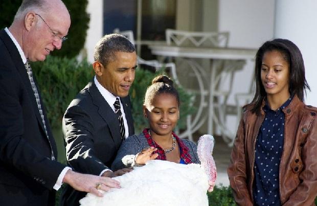 """Barack Obama ułaskawił indyki o imionach """"Abe"""" i """"Honest"""""""