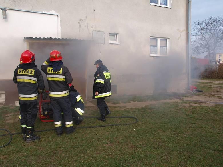 Wielkopolskie – Pożar w budynku w Dobrowie