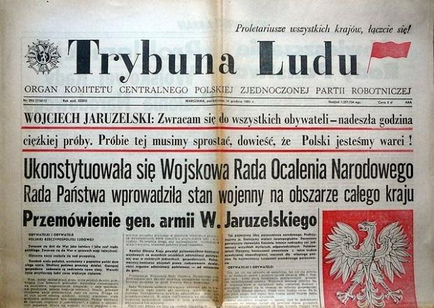 Znalezione obrazy dla zapytania stan wojenny w polsce