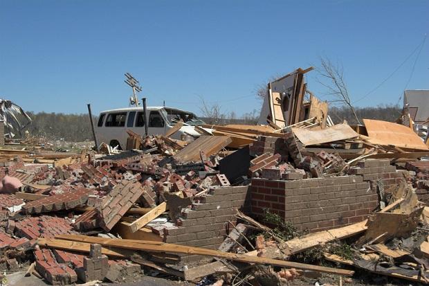 24 ofiary tornad i powodzi w Stanach Zjednoczonych