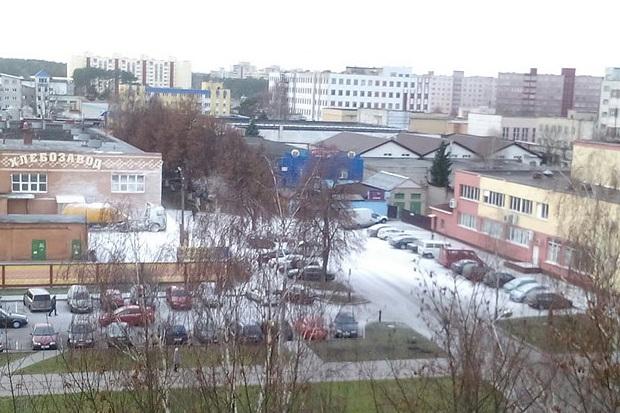Na Białorusi z nieba zamiast śniegu posypała się mąka