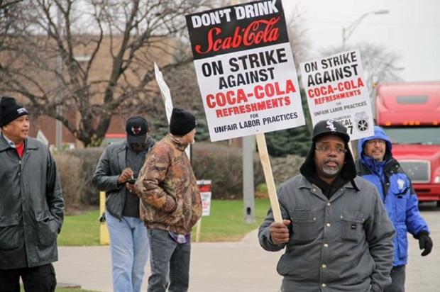 Pracownicy Coca-Coli strajkują
