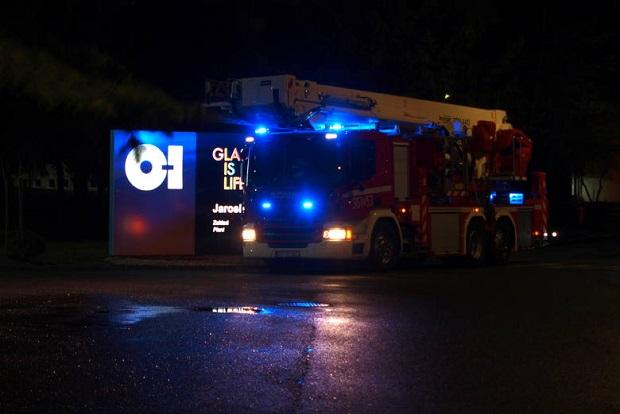 Pożar w hucie szkła w Jarosławiu