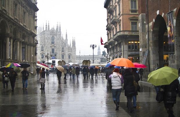 Deszcz uwolnił Włochy od smogu