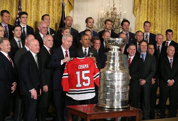 Hokeiści Chicago Blackhawks spotkali się z prezydentem Barackiem Obamą