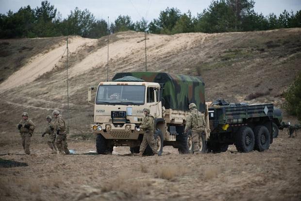 Na Litwę przerzucany jest amerykański sprzęt wojskowy