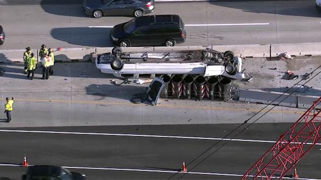 Tragiczny wypadek limuzyny na autostradzie I-90