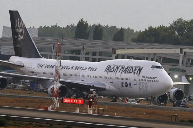 Samolot Iron Maiden miał wypadek na lotnisku w Chile