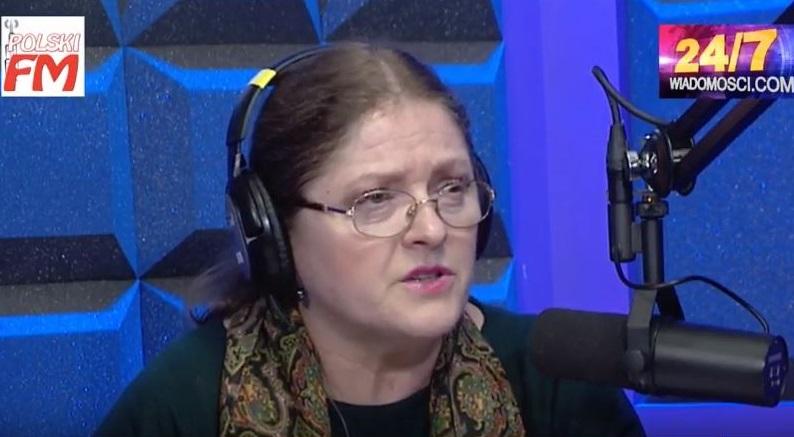 Krystyna Pawłowicz na antenie radia Polski FM Chicago