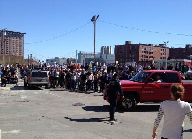 Ewakuacja sądu w Bostonie