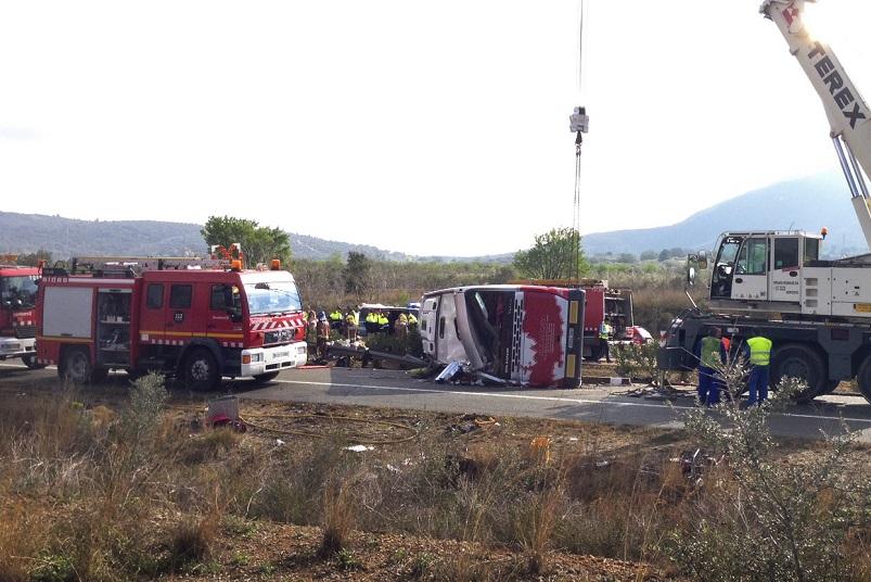 Wypadek autokarowy w Hiszpanii – zginęło co najmniej 14 studentów Erasmusa