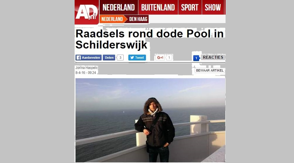 33-letni Polak zamordowany w Holandii