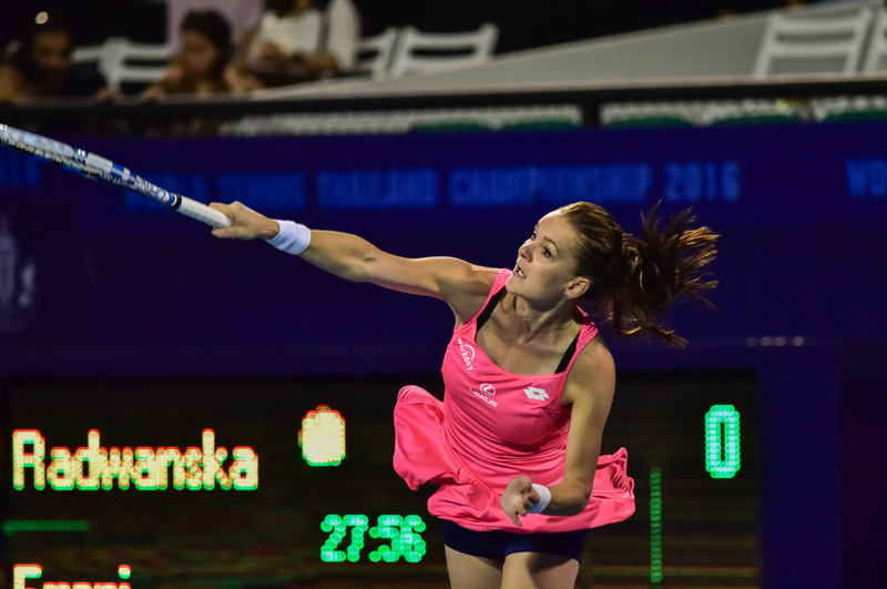 Radwańska w finale, Kvitova zdemolowana
