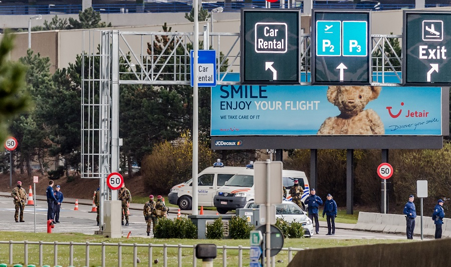 Belgijska policja protestuje przeciwko ponownemu otwarciu lotniska Zaventem
