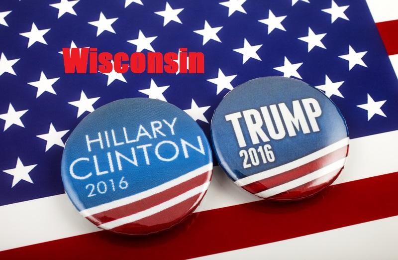 Trump i Clinton polegli w prawyborach w Wisconsin