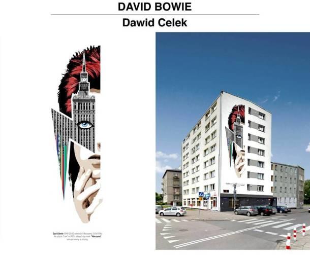 Odsłonięcie muralu upamiętniającego Davida Bowiego