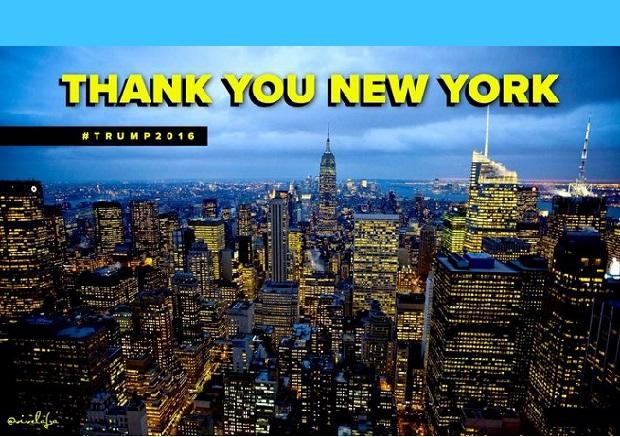 Trump i Clinton wygrywają w Nowym Jorku