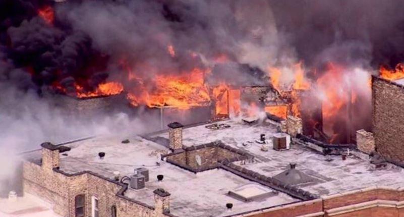 Ogromny pożar w chicagowskiej dzielnicy Lake View