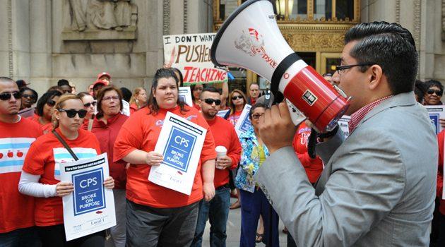 Nauczyciele CPS protestowali w centrum Chicago