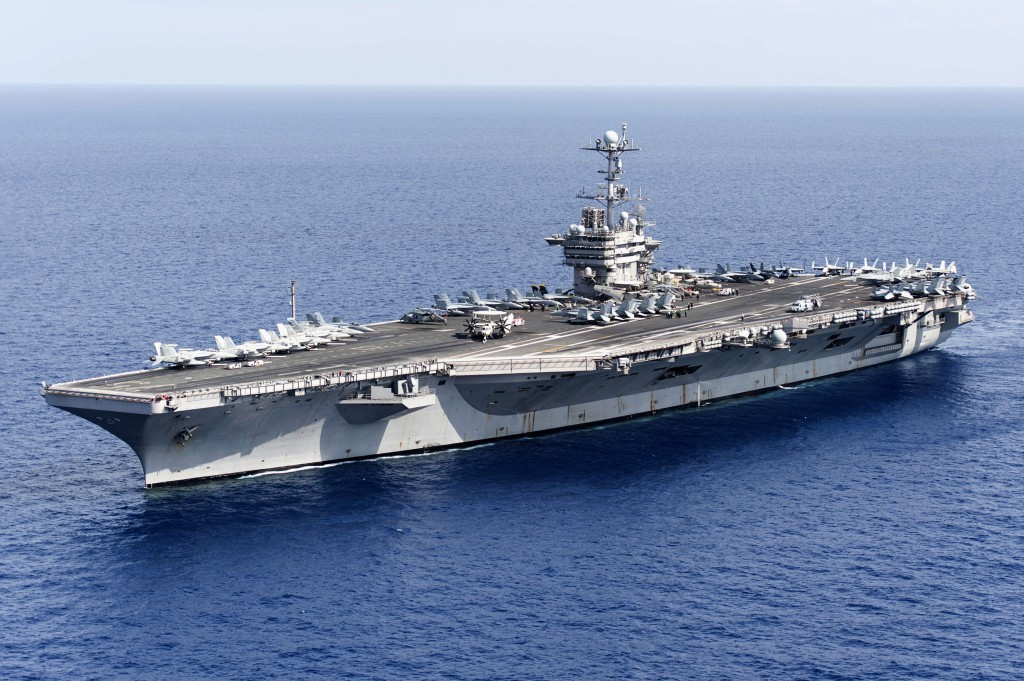 Bombardowania pozycji ISIS z lotniskowca USS Harry Truman