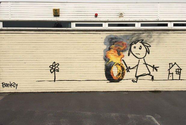 Kolejne graffiti Banksy'ego – tym razem w szkole w rodzinnym Bristolu